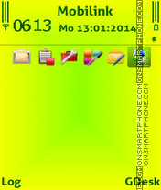 Lime gr theme screenshot