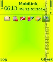 Скриншот темы Lime gr