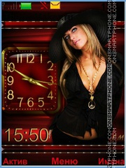 Blonde in black tema screenshot