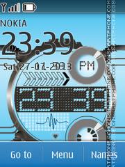Скриншот темы Digital Blue 01