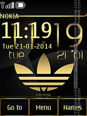 Gold Adidas theme screenshot