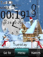 Christmas dual clock 05 theme screenshot