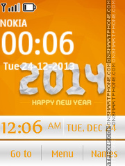 Happy new year 2014 - Orange Style theme screenshot