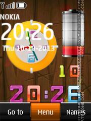 Скриншот темы Nokia battery Dual