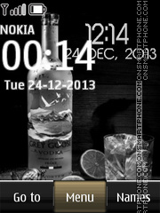 Vodka digital clock theme screenshot