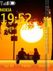 Sunset and Romantic tema screenshot