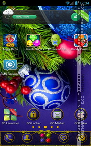 Christmas Decorations tema screenshot