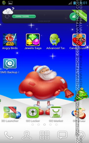 Happy New Year 2014 HD Theme tema screenshot