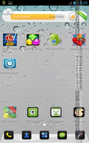 iPhone 5 Grey for Android theme screenshot