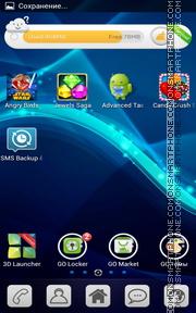 PSP Fractal Waves tema screenshot