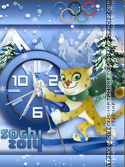 Sochi 2014 theme screenshot