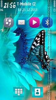 Cute butterfly tema screenshot