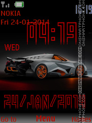 Lamborghini Egoista HD theme screenshot