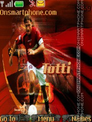 Francesco Totti theme screenshot