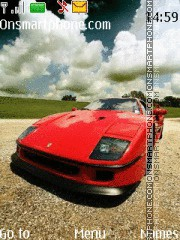 Ferrari f40 theme screenshot