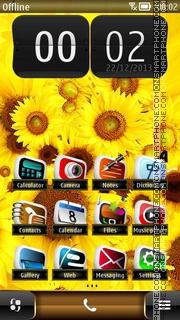 Fresh Yellow HD Sunflowers theme screenshot