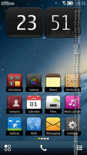 Galaxy Style theme screenshot