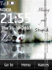 Kitten is missing you theme screenshot