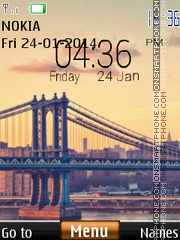 Bridge digital clock 02 theme screenshot