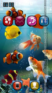 Fish Tank HD theme screenshot