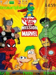 Phineas y Ferb Missión Marvel theme screenshot