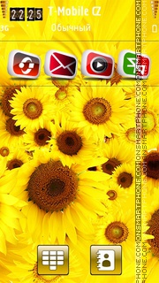 Fresh Yellow Flowers es el tema de pantalla
