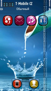 Splash Water Drops HD es el tema de pantalla