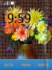 Flower mix theme screenshot