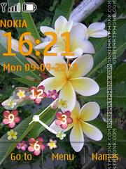 Скриншот темы Tropical Flowers Clock