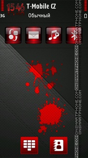Blood Red HD tema screenshot