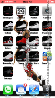 Air Jordan 05 theme screenshot