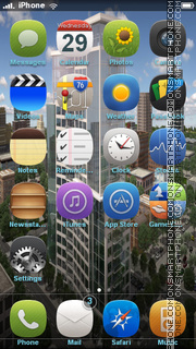 Building In Modern City theme screenshot