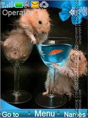 Funny hamsters theme screenshot