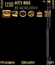 Скриншот темы Gold in Black
