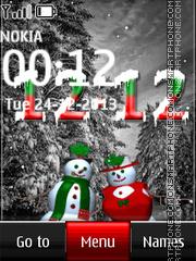 Скриншот темы Snowman from Christmas