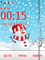 Snow man 2014 theme screenshot