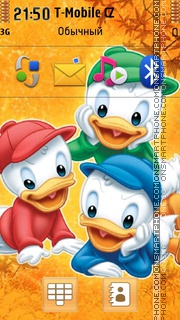 Скриншот темы Three Brothers In Duck Tales