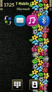 Floral Art theme screenshot