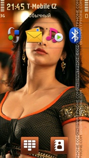 Shruti Haasan tema screenshot