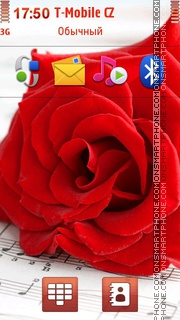 Red Rose Music es el tema de pantalla