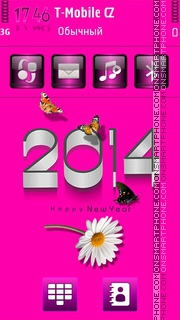 Pink 2014 HD theme screenshot