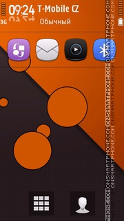 Retro Orange Circles es el tema de pantalla