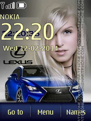 Lexus-RC F theme screenshot