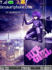 Hit-Girl theme screenshot