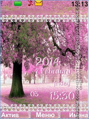 Pink Trees tema screenshot