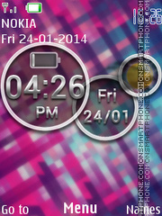 Abstract Galaxy Live Clock theme screenshot