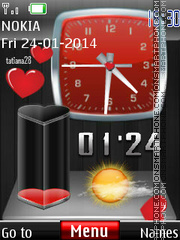 Flying hearts battery dual theme screenshot