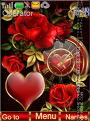 Love & Roses tema screenshot