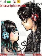 Love Anime theme screenshot
