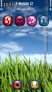 Grass HD 01 tema screenshot